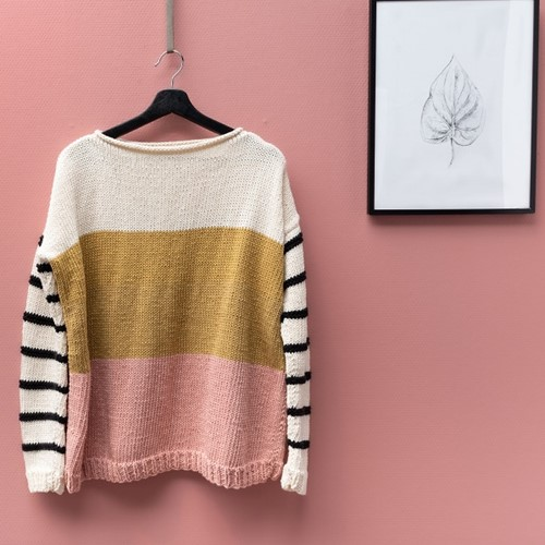 Strickanleitung Yarn and Colors Striped Jumper Color Block