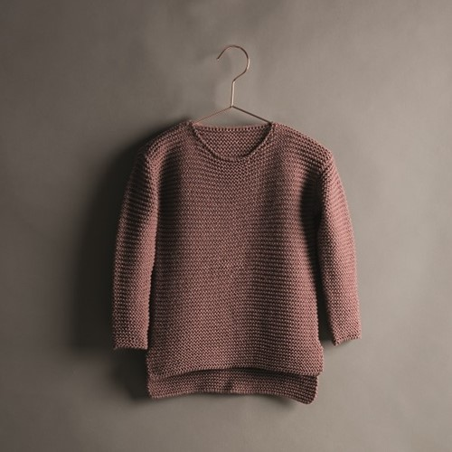 Creative Soft Wool Aran Kinderpullover Strickpaket 2 122/128