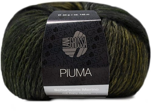 Piuma Zopfjacke Strickpaket 1 36/38 Olive / Grey / Green / Black