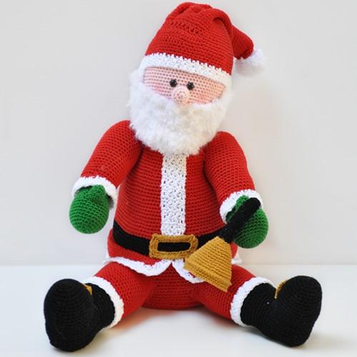 Weihnachtsmann Häkelpaket
