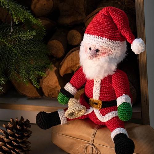 Mini Weihnachtsmann Häkelpaket