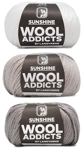 Wooladdicts Strong Spirit Pullover Strickpaket 1 L/XL White/Grey