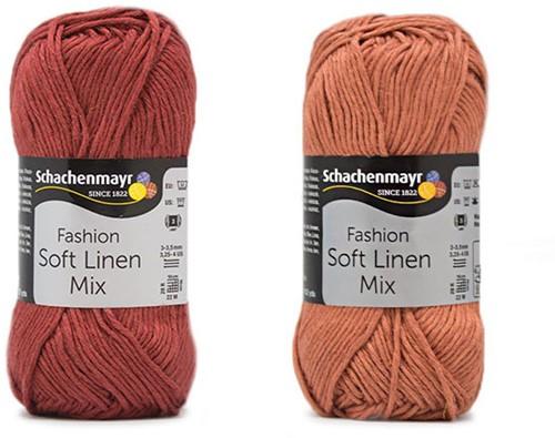 Soft Linen Mix Kalea Sommerjäckchen Häkelpaket 1 32/34 Rust / Almond
