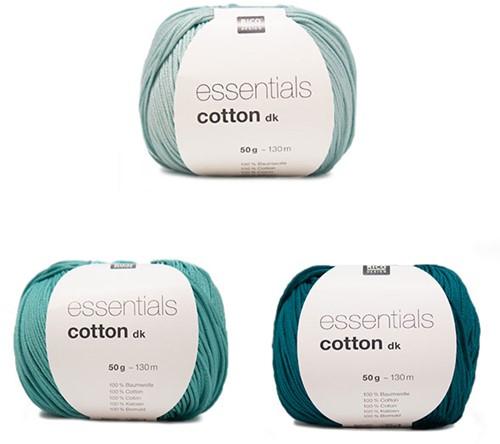 Essentials Cotton Dreieckstuch Strickpaket 1 Green
