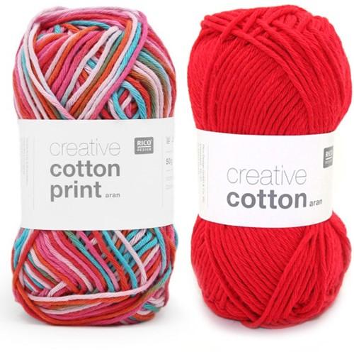 Cotton Print Hase Häkelpaket  1