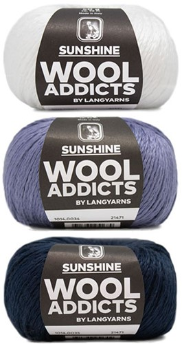 Wooladdicts Strong Spirit Pullover Strickpaket 2 L/XL White/Blue