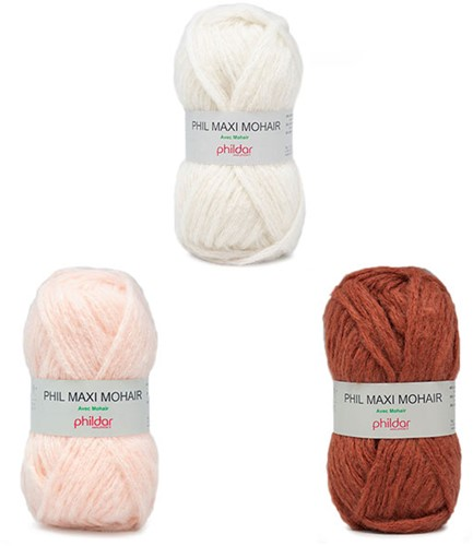 Phil Maxi Mohair Damenpullover Strickpaket 2 38/40