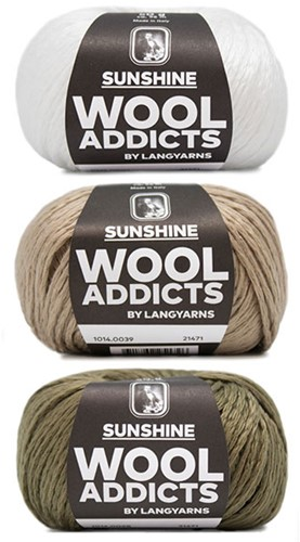Wooladdicts Strong Spirit Pullover Strickpaket 3 L/XL White/Camel