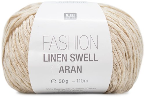 Fashion Linen Swell Aran Sweater Strickpaket 1 44/46 Nature