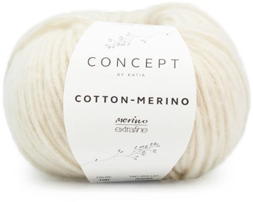 Cotton-Merino Loopschal mit Zöpfen Strickpaket 1