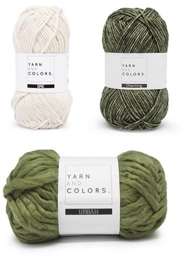 Yarn and Colors Three is a Charm WOW! Wandschmuck Paket 023 Cream / Khaki / Olive