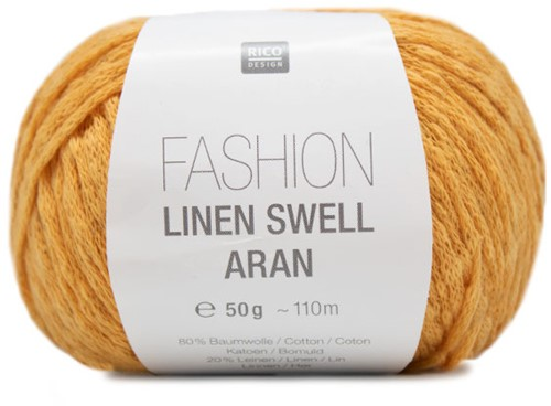 Fashion Linen Swell Aran Sweater Strickpaket 2 40/42 Mustard