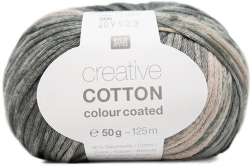 Creative Cotton Colour Coated Vest Strickpaket 2 44/46 Grey Mix