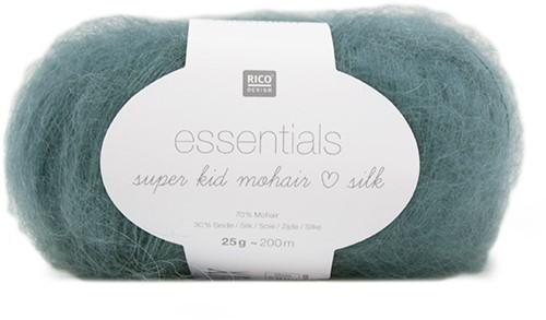 Essentials Super Kid Mohair Silk Jacke Strickpaket 2 36/38 Teal