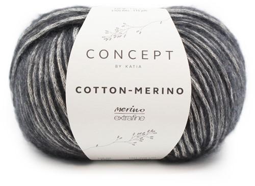 Cotton-Merino Loopschal mit Zöpfen Strickpaket 2