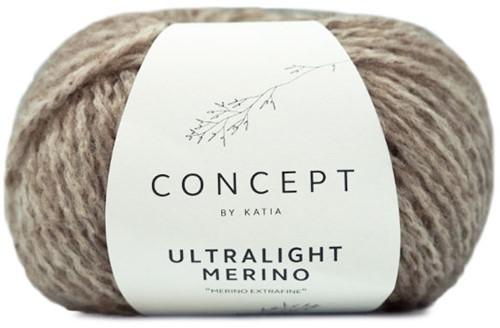 Ultralight Merino Kimono Zopfjacke Strickpaket 2 M