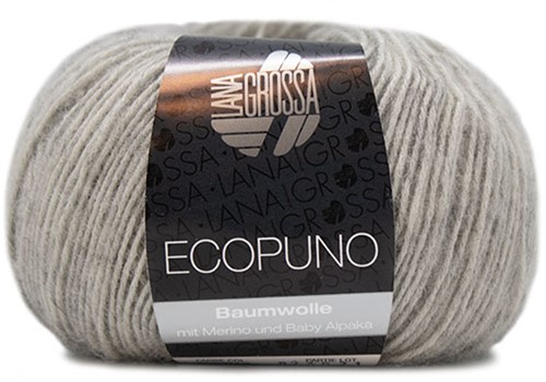 Ecopuno Rippenpullover Strickpaket 2 40/42 Light Grey