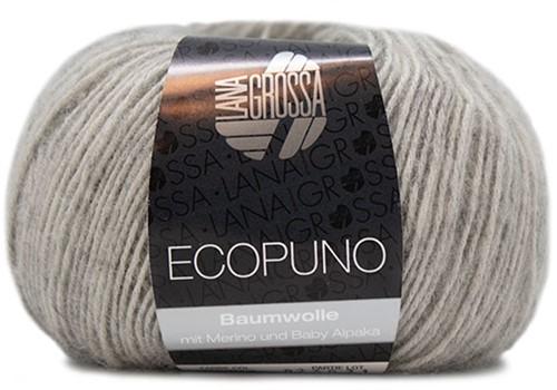 Ecopuno Rippenpullover Strickpaket 2 44 Light Grey