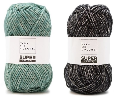 Yarn and Colors Double Trouble WOW! Wandschmuck Paket 071 Black / Riverside