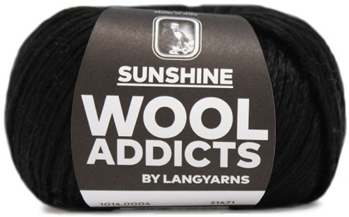 Wooladdicts Whitty Whirlwind Top Strickpaket 2 S/M Black