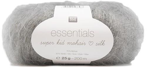 Essentials Super Kid Mohair Silk Jacke Strickpaket 3 36/38 Light Grey Melange