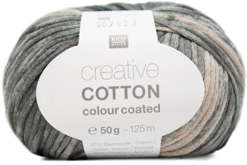 Creative Cotton Colour Coated Top Strickpaket 3 36/38 Grey Mix