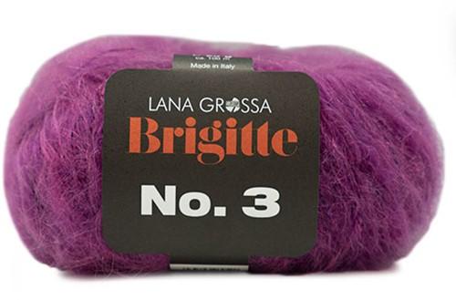 Brigitte no. 3 Schal Strickpaket 3 Violet