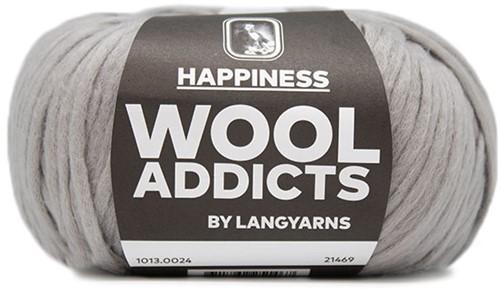 Wooladdicts Good Mood Umschlagtuch Strickpaket 4 Grey