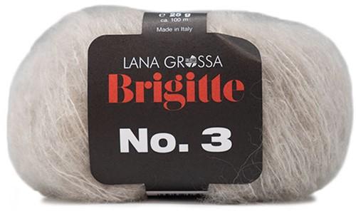 Brigitte no. 3 Schal Strickpaket 5 Beige