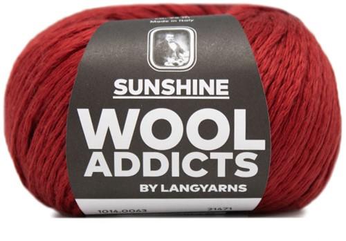 Wooladdicts Glow-Getter Pullover Strickpaket 9 M Dark Red
