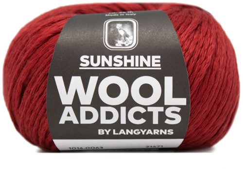 Wooladdicts Like Sunbeams Umschlagtuch Strickpaket 9 Dark Red
