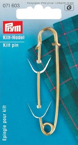 Prym Kiltnadel Gold 76 mm
