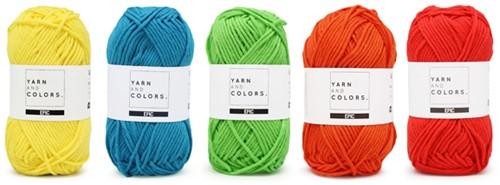 Wollplatz Regenbogen Kissen Häkelpaket 6 Colorful