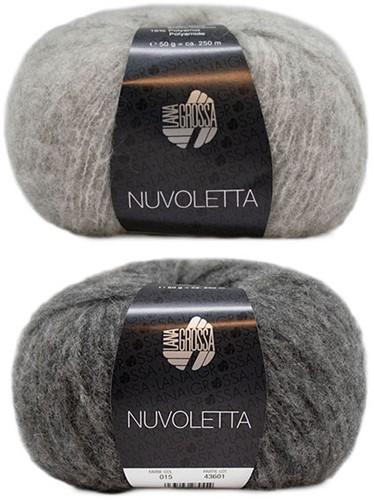 Nuvoletta Raglanmantel Strickpaket 2 Light/Dark Grey 42/46