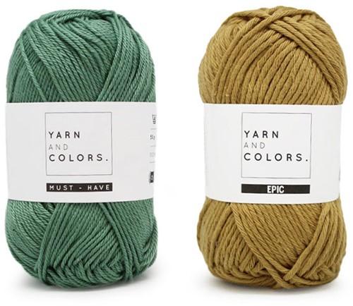 Yarn and Colors Shower Pouf Häkelpaket 089 Gold