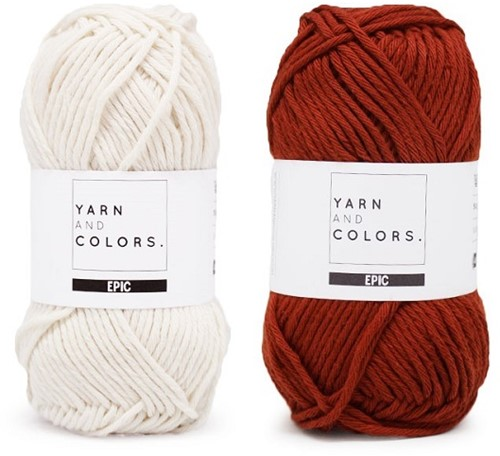 Yarn and Colors Striped Jumper Reversed Strickpaket 6 M Chestnut