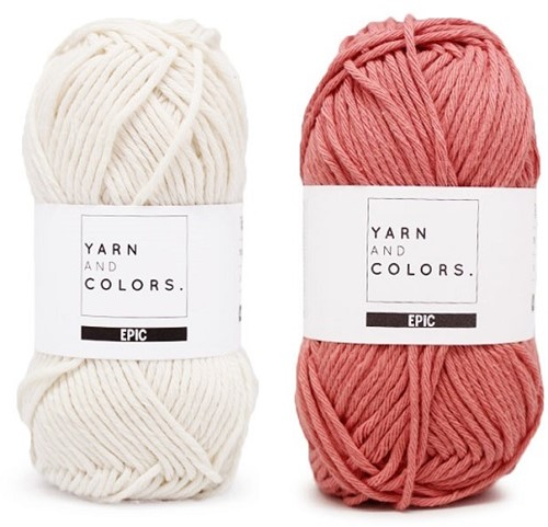 Yarn and Colors Striped Jumper Reversed Strickpaket 7 S Old Pink
