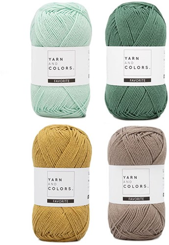 Yarn and Colors Favorite Clean Cloths Häkelpaket 073 Jade Gravel