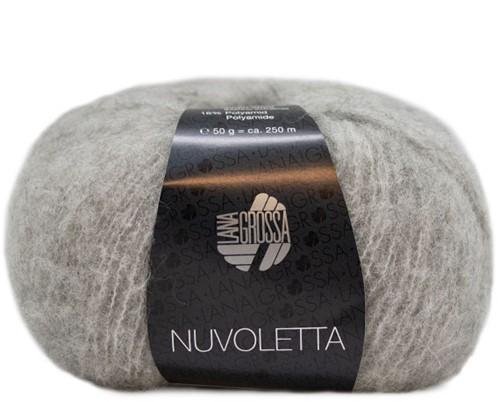 Nuvoletta Poncho Strickpaket 1 Light grey 36/42