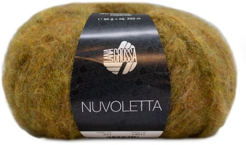 Nuvoletta Lange Jacke Strickpaket 1 Mustard 42/46