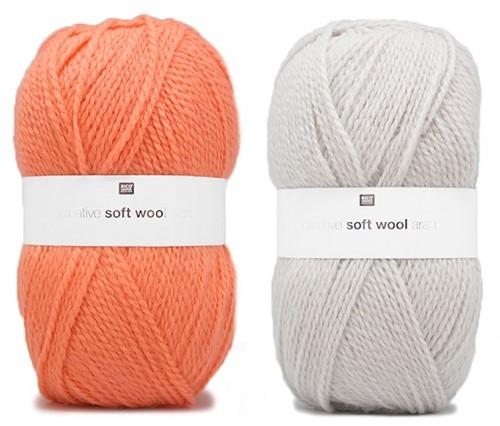 Creative Soft Wool Aran Patentmuster Schal und Mütze Strickpaket 1