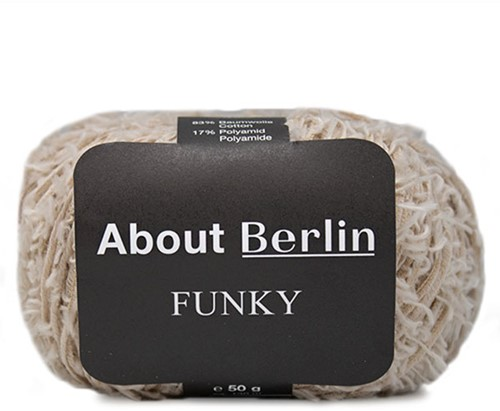About Berlin Funky Jacke Strickpaket 1 40/42 Beige