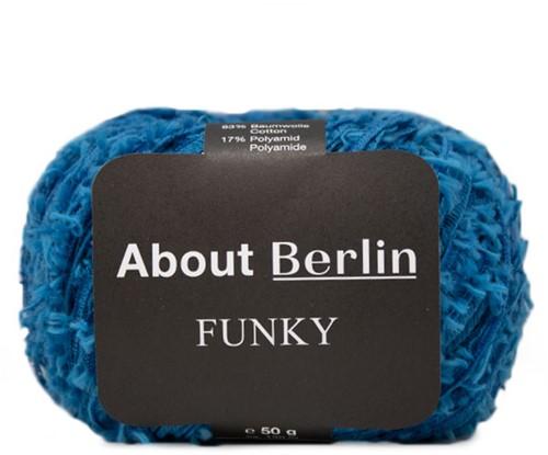 About Berlin Funky Weste Strickpaket 1 40/42 Gentian Blue