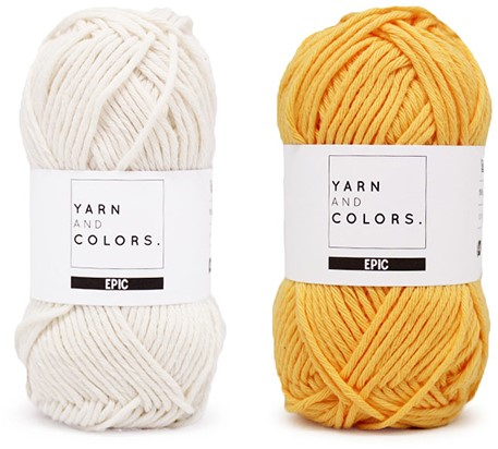 Yarn and Colors Striped Jumper Reversed Strickpaket 1 L Sunflower