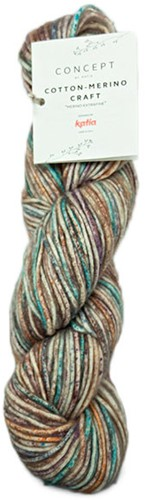 Cotton-Merino Craft kurze Jacke Strickpaket 2 Brown/Lila/Turquoise 44/48