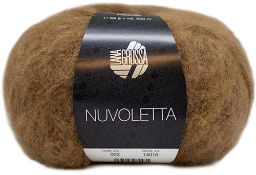Nuvoletta Poncho Strickpaket 2 Camel 36/42