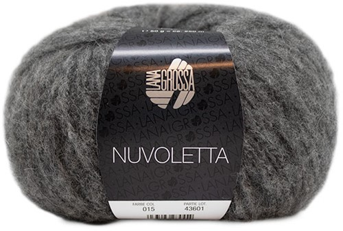 Nuvoletta Lange Jacke Strickpaket 2 Dark grey 36/40