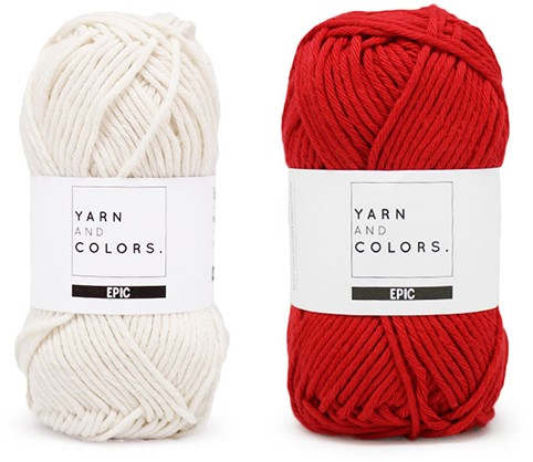 Yarn and Colors Striped Jumper Reversed Strickpaket 2 M Cardinal