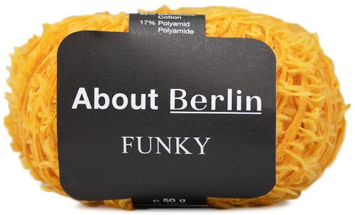 About Berlin Funky Pullover Strickpaket 2 40/42 Yellow