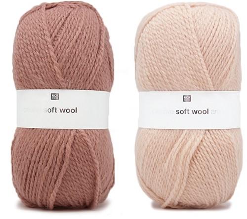 Creative Soft Wool Aran Patentmuster Schal und Mütze Strickpaket 3